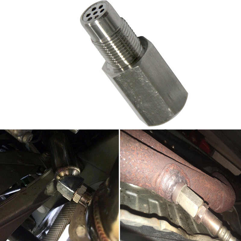 Mobil Catalytic Converter Cleaner O2 Sensor Eliminator Adaptor Pengatur Jarak Catalytic Converter 6*2.5*2.5 Cm 304 Stainless Steel check