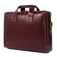 2019 Men Crossbody Bag Man Briefcase Genuine Leather Laptop Bag Handbags Cowhide Men's Travel Brown Leather Briefcase For Man