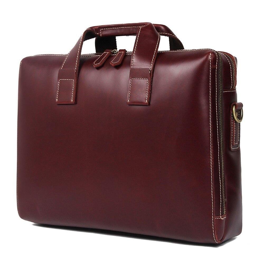 2019 hommes sac à bandoulière homme mallette en cuir véritable pochette d'ordinateur sacs à main en cuir de vachette hommes voyage marron mallette en cuir pour homme