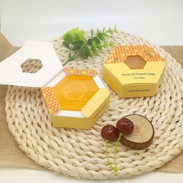 Essential Oil Moisturizing Smell Deep Cleansing Honey Smell Soap Spa Handmade Soap Cleaning Dirt Anti Aging Skin Care #518 4