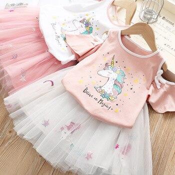 Cute Summer Unicorn Printed Tutu Skirt