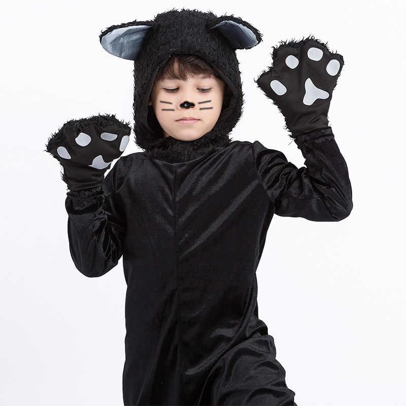 Purim/Детский костюм с животными для мальчиков; милое детское платье черного цвета для косплея; Карнавальная фантазия на Хэллоуин
