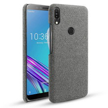 For Asus Zenfone Max Pro M1 ZB601KL Case Slim Fabric Woven Cloth Anti-Scratch PC Hard Cover