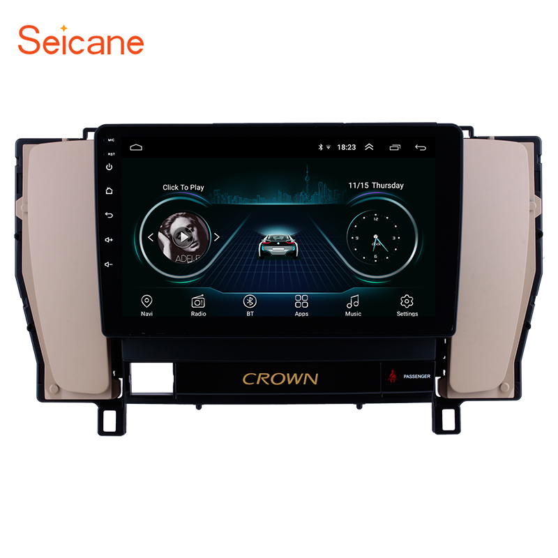 Seicane Android Car Radio Stereo GPS Navigation For Toyota old crown 2010 2011 2012 2013 2014 2 Din Touch Car Multimedia Player