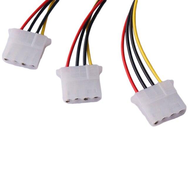 Wysokiej jakości 4Pin IDE kable zasilające HY1578 4 Pin Molex męski na 3 port Molex IDE siła żeńska dostaw kabel rozgałęziający nowy