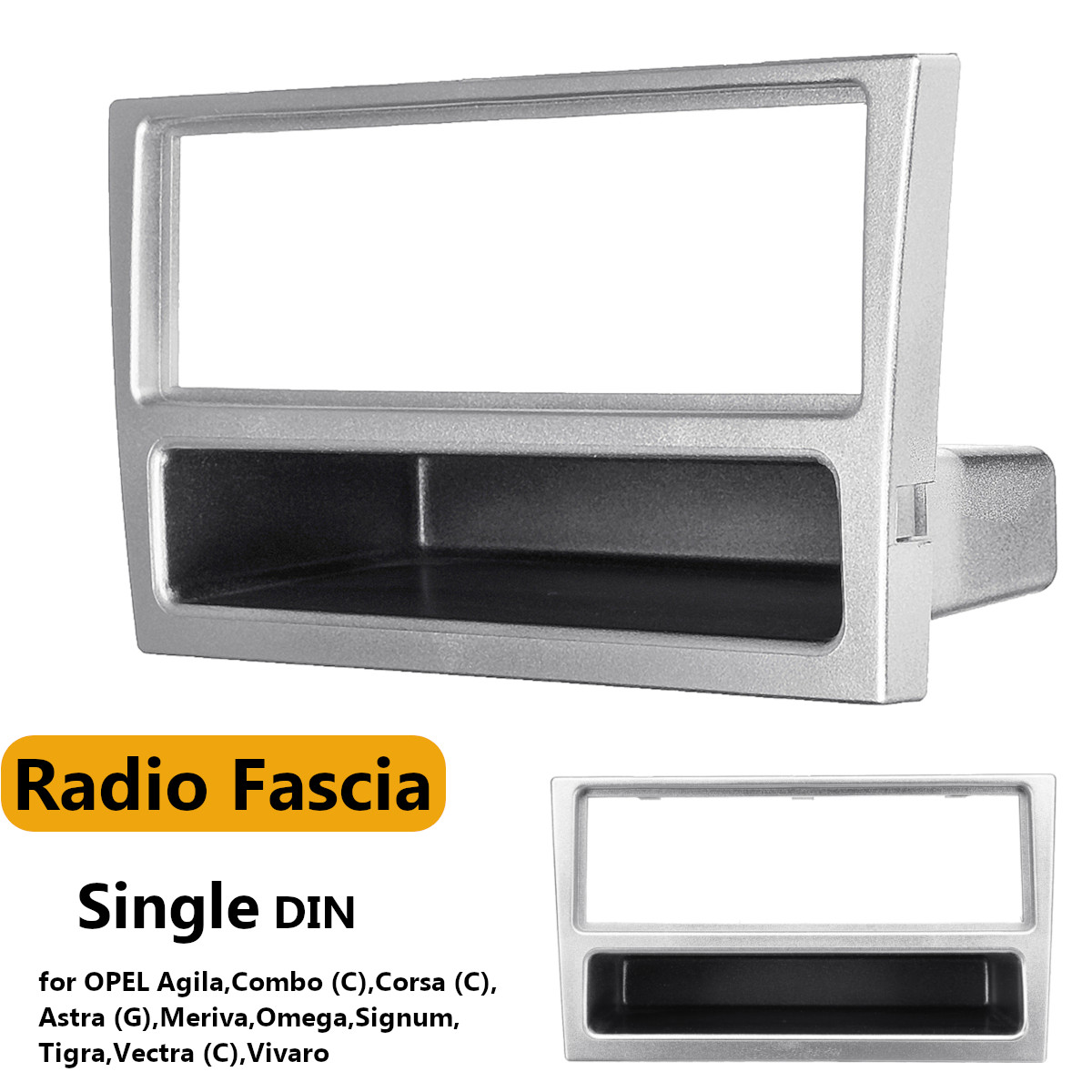 1 Din Car Stereo Radio DVD Player Fascia Panel Plate Frame for OPEL Agila Tigra Astra For Corsa for Omega for Signum for Vectra image