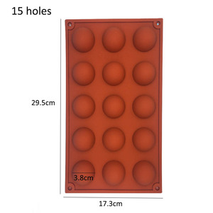 Image 5 - Hemisphere Shape Silicone 6/15/24 Holes Food Grade Baking Accessories Chocolate Candy Mold Bakeware Kitchen Gadgets