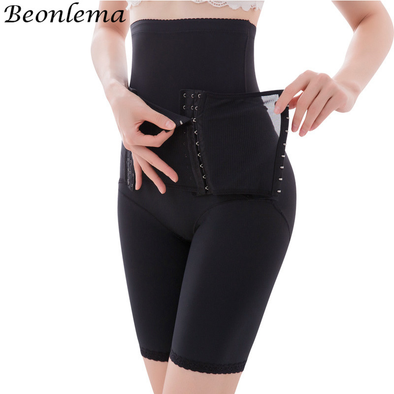 Beonlema Tummy Shaping Pants Underwear Shaper Women High Waist Tummy Modeling Row Hook Strap Butt Lifting Shapewear Plus Size