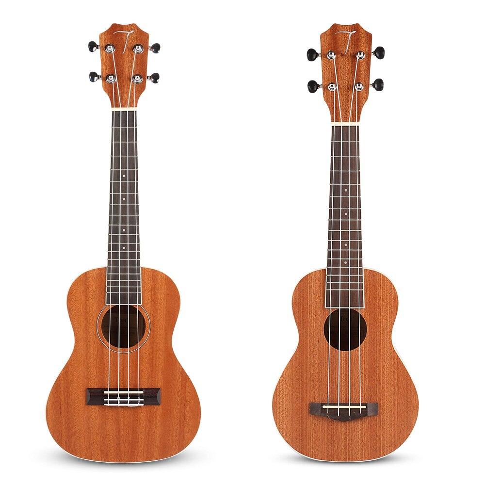 Nouveau ukulélé avec sac de transport Concert acoustique Soprano ukulélé musique guitare 4 cordes Sapele palissandre Instruments de musique cadeaux