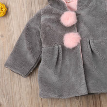 Girl Bunny Ears Hooded Wool Jacket