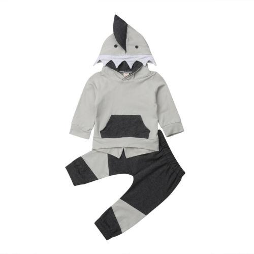 Babykleidung Jungen Neue Stil Kleinkind Kinder Jungen Kleidung Shark Langarm Mit Kapuze Tops Hoodie Mantel Lässig Kinder Kleidung