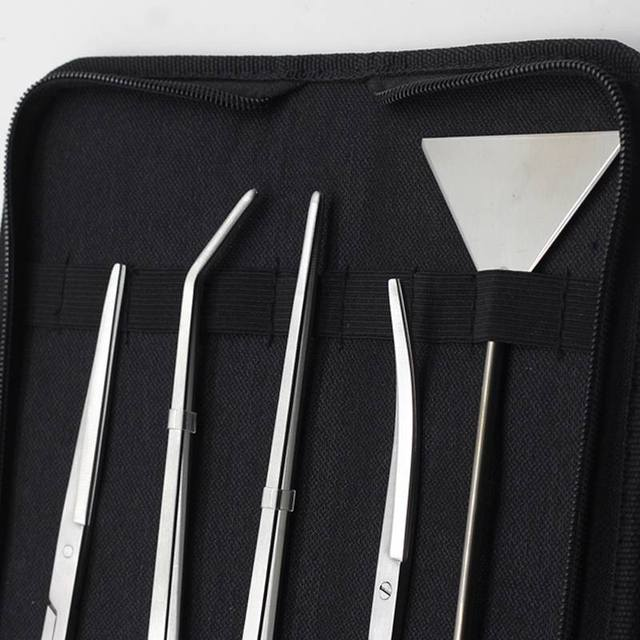 5pcs/set Aquarium Maintenance Tools Kit Tweezers Scissors For Live Plants Grass Aquario Accessory Fish Aquatic Pet Supplies 2