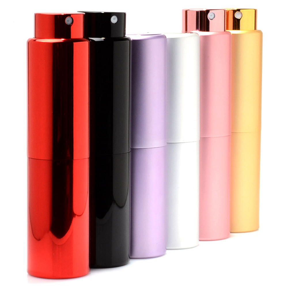 20 ML Aluminum tube Perfume <font><b>Bottle</b></font> Solid color <font><b>Spray</b></font> <font><b>Bottle</b></font> With Glass liner empty cosmetic containers Portable atomizer perfume image