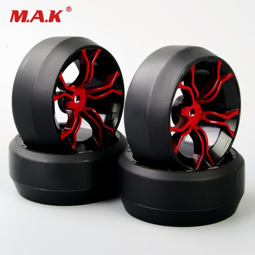 4Pcs/Set 1/10 Scale 12mm Hex Rubber Rally Accessories Hard Tires & Drift Wheel 6mm Offset Parts For HSP HPI RC 1:10 Drift Car4Pcs/Set 1/10 Scale 12mm Hex Rubber Rally Accessories Hard Tires & Drift Wheel 6mm Offset Parts For HSP HPI RC 1:10 Drift Car