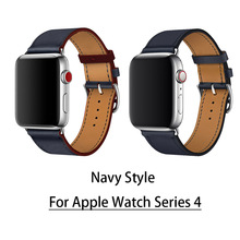 For Apple Watch Series 4 Newest Leather Strap Single Tour Genuine Leather Watchbands For Apple Series 1 2 3 herm Strap 38mm 42mm 2016 men and women 3 in1 genuine leather watch strap 38mm 42mm watchbands for apple watchband 1 1 original metal adapters