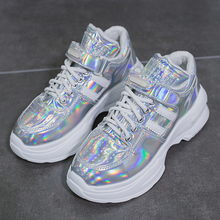 Casual Fashion Glitter Women Sneakers Spring Platform for Female Footwear Woman Shoes basket Chunky