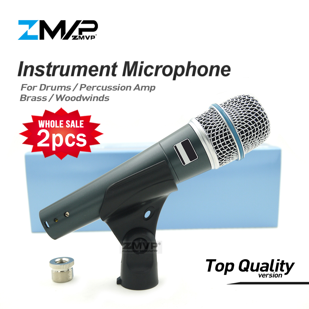 2pcs/lot Top Quality Version Super-cardioid Professional Instrument Microphone BETA57A Drums Percussion Dynamic Microfone Mic