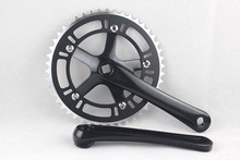 цена на Fixed Gear 48T Crank Set Bike Bicycle Aluminum Chainwheel Alloy Crank Set Sprocket Crankset