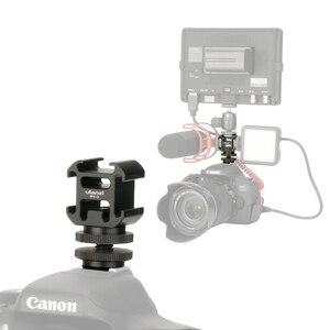 Image 1 - Ulanzi 0951 Flitsschoen Op Camera Mount Adapter Uitbreiden Port Voor Canon Pentax Dslr Camera Voor Microfoon Monitor Led video Licht