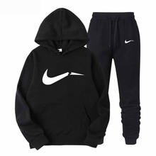 Winter Autumn Hoodie Sweater Jacket+ Joggers Sweatpants Man Printing Suits Sportwear Tracksuit Fight Color(China)