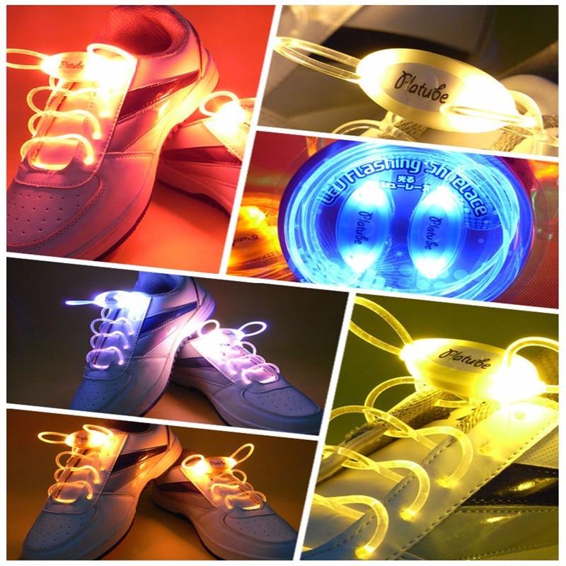 1 Paar 80 Cm Led Leuchtende Schnürsenkel, Blinkende Schnürsenkel Outdoor Dance Schnürsenkel Partei Liefert 6 Farben Für Wahl Die Neueste Mode