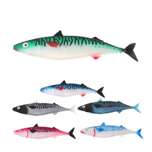 цена на 28cm Tuna Empty Stomached Lures Soft bait Marlin Saltwater Fishing Lures Belly Open Paddle Tail Swimbait