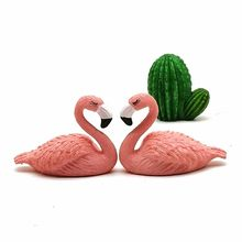 Flamingo Lover Souvenir Decoration Miniature Bird Animal Figurine PVC Craft Mini Garden Decor Home Ornament DIY Accessories(China)