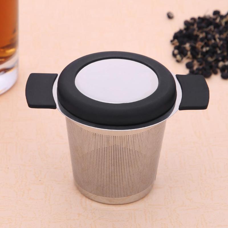 Stainless Steel Reusable Tea Infuser Basket Fine Mesh Tea Strainer With 2 Handles Lid Tea And Coffee Filters For Loose Tea Leaf