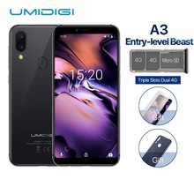 UMIDIGI A3 Global Band 5.5″incell HD+display 2GB+16GB smartphone Quad core Android 8.1 12MP+5MP Face Unlock Dual 4G Mobile phone