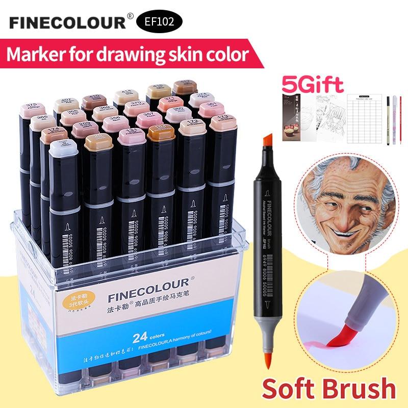 12/24/36 Finecolour Skin Color Set Soft Brush Professional