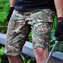 Мужские спортивные камуфляжные дышащие шорты для альпинизма, летние, для охоты, военных тренировок, пеших прогулок, с несколькими карманами, тактические короткие брюки