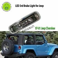 For 97 01 Jeep Cherokee Chromed Red Black Clear housing / Shell / Len LED THIRD 3RD TAIL BRAKE LIGHT LAMP BAR