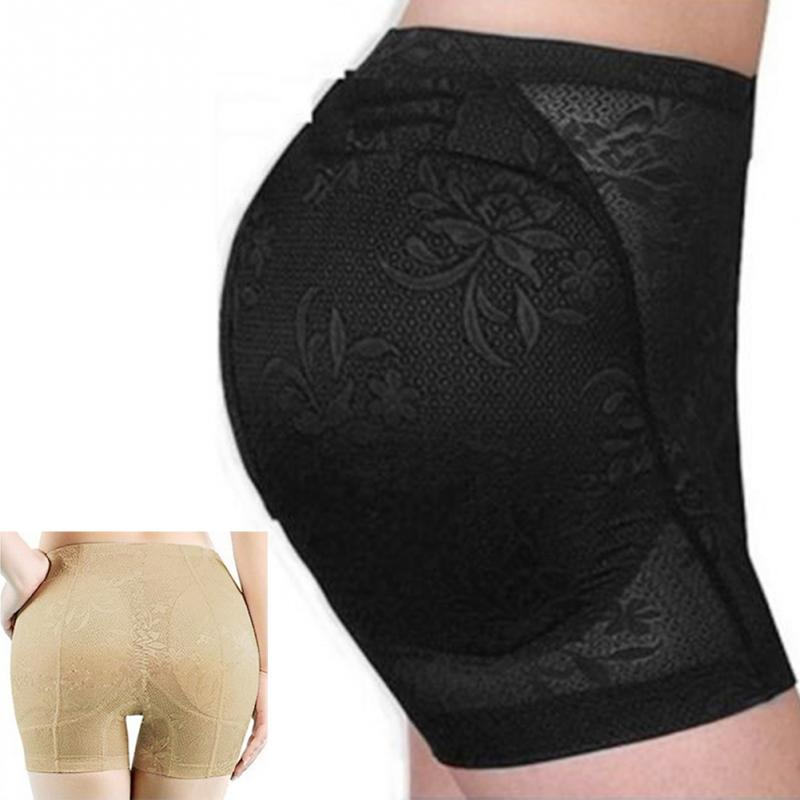 Women Fake Ass Shaper Underwear Sexy lace Boyshort   Panties   Push Up Padded   Panties   Buttock Shaper Butt Lifter Hip Enhancer #3
