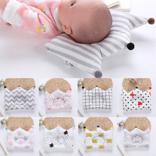 Newborn Baby Soft Pillow Infant Anti-Roll Memory Positioner Prevent Flat Head