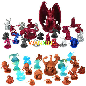 10 Pieces Plastic Model Kit 1/72 Dungeons And Dragons Dnd Board Game Resin Figure Toys Hobbies Toys For Children Limited