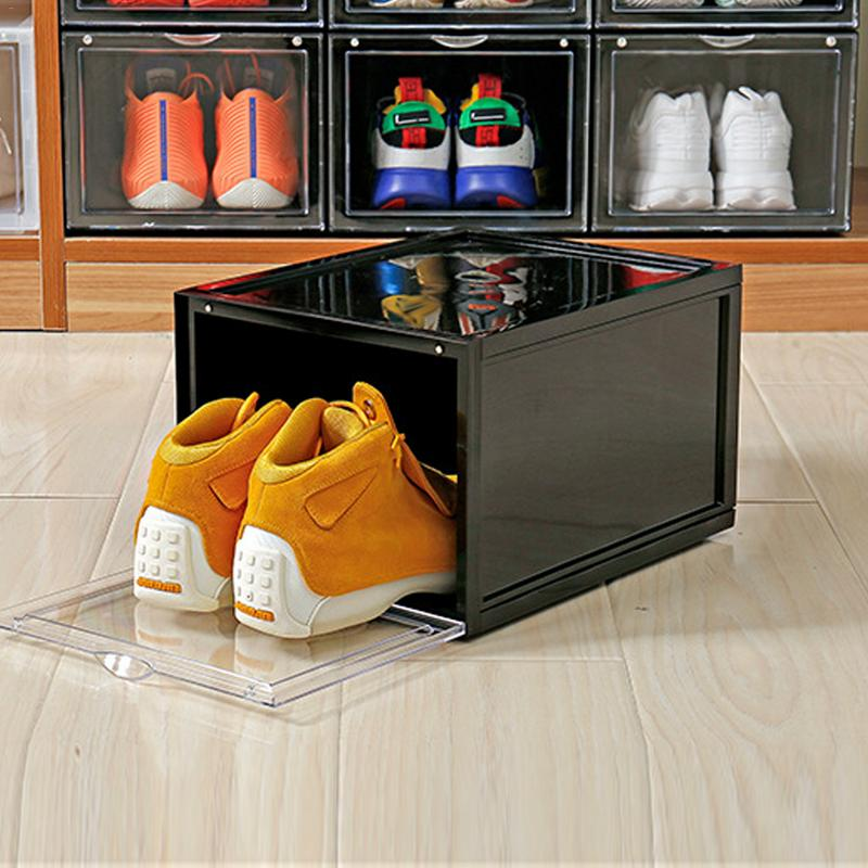 Sneakers Storage Box Home Basketball Shoes Shoe Box High Help Shoes Storage Wall Collection Display Shoe Cleaning Storage Box(China)
