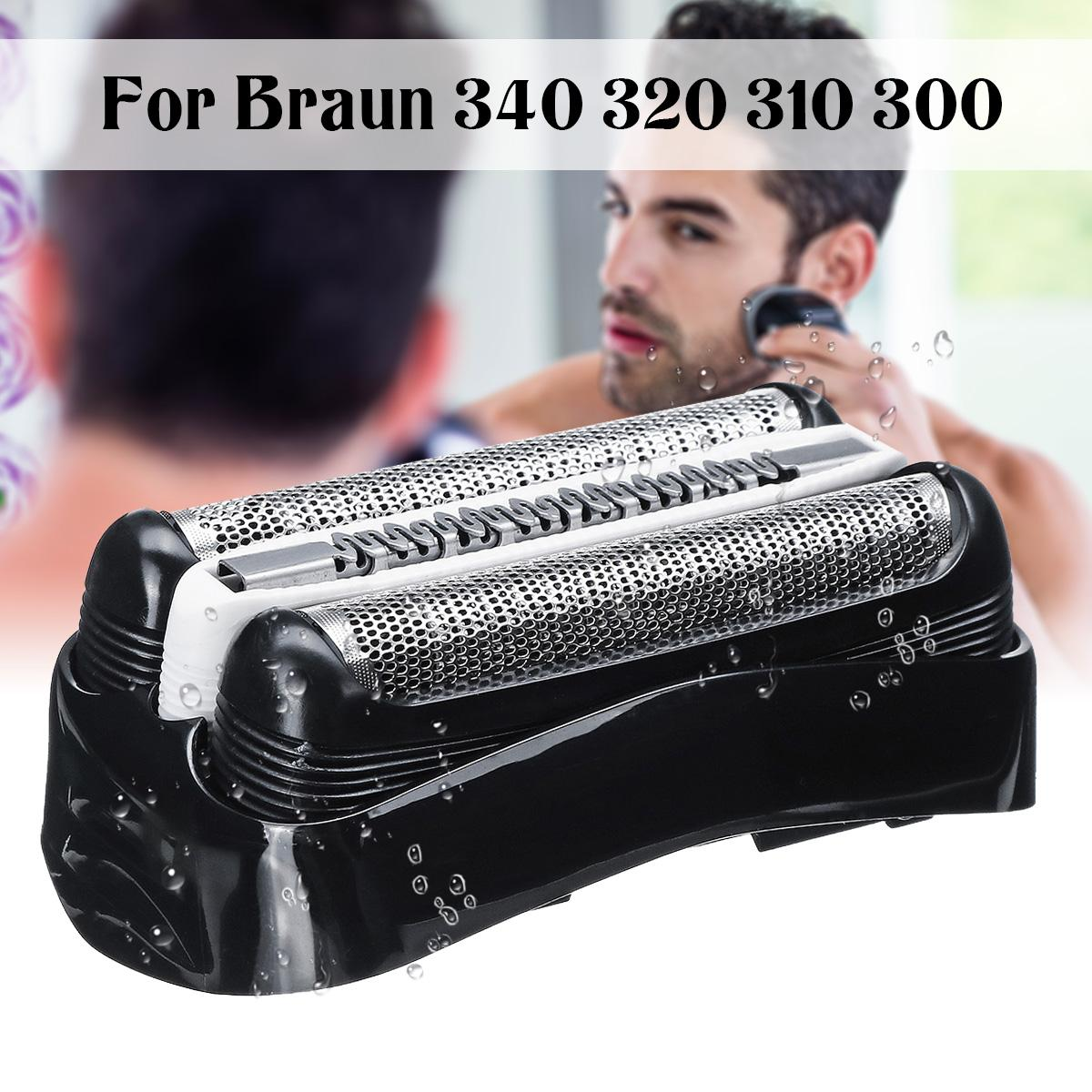 Black Shaver Replacement Foil Head for Braun Series 3 32B 3090cc 3050cc 3040s 3020 340 320 Male Shaver Razor Cutter Head