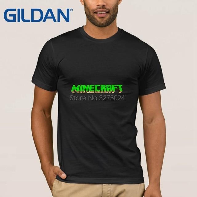 2cd5daeb Gildan Customize 100% Cotton Mens Tee Shirt Minecraft T-Shirt Men Kawaii  Spring Autumn T Shirt Men Funny Casual Top Tee