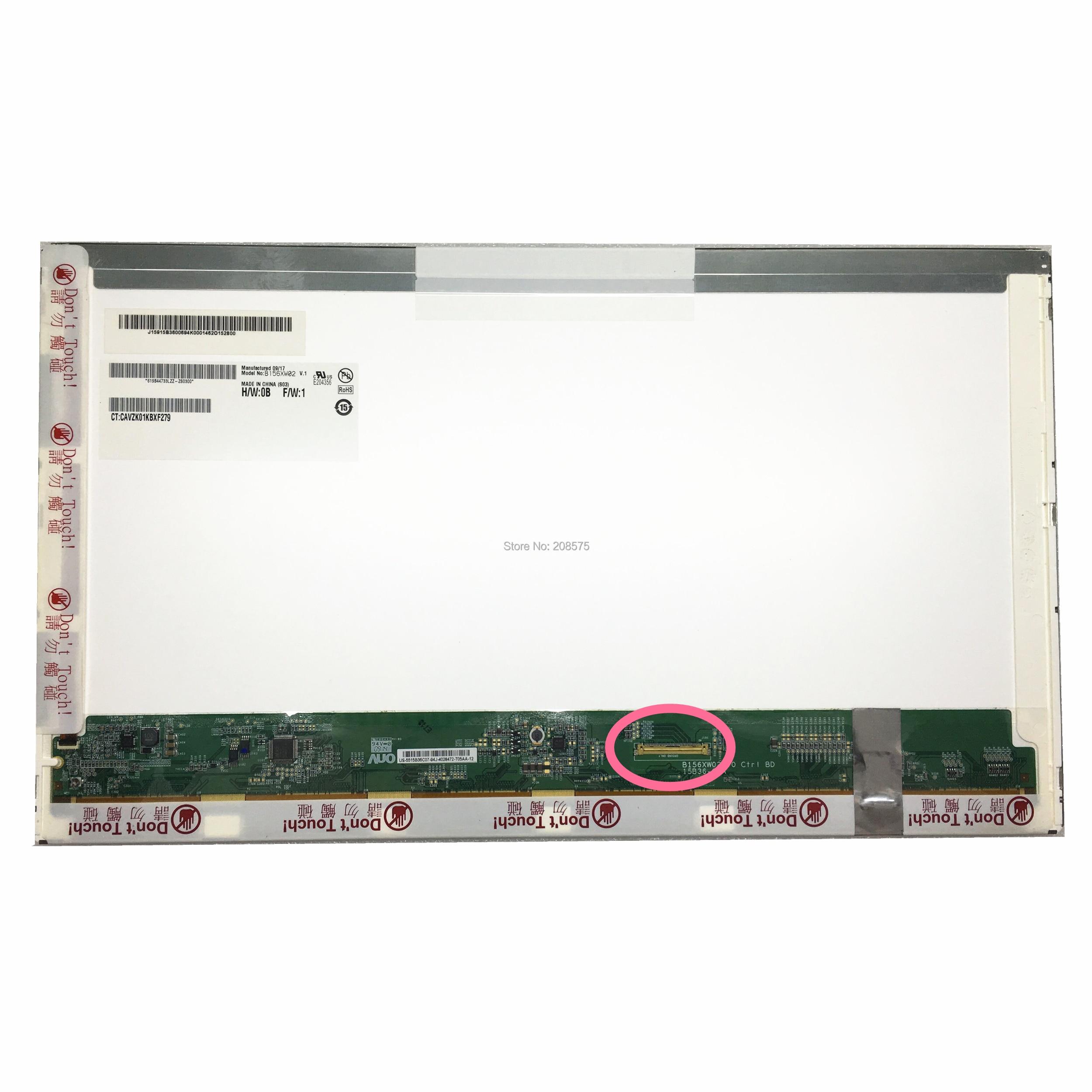 Livraison Gratuite B156XW02 V.1 B156XW02 V1 V0 N156B6-L03 L04 LTN156AT03 LP156WH2-TLC1 écran lcd d'ordinateur portable 1366*768 40pin