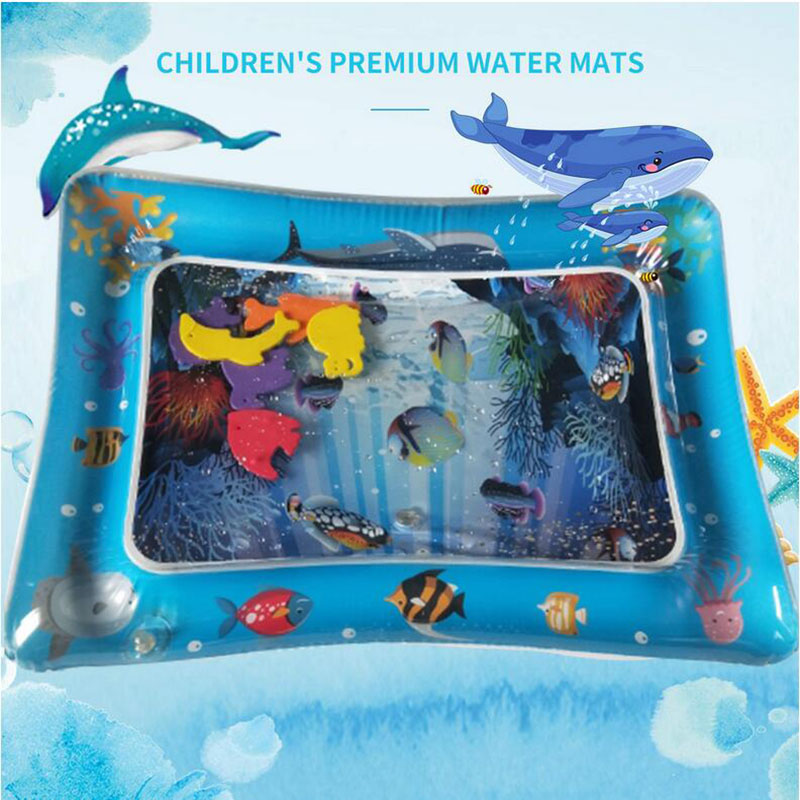 2019 Ins Infant Inflatable Water Play Mat Creative 3D Fish Underwater World Cute Playmat Toddler Fun Activity Pad For Summer