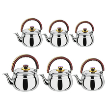 Whistling-Kettle Kitchen Stainless-Steel Outdoor Tea-Pot Camping Silver