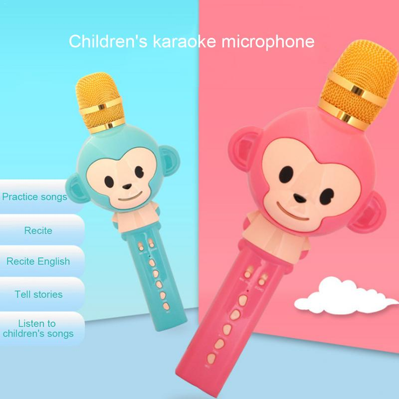 Childrens Wireless Bluetooth Microphone Audio Portable Handheld Karaoke Machine Childhood Early Education Instrument Toys GiftChildrens Wireless Bluetooth Microphone Audio Portable Handheld Karaoke Machine Childhood Early Education Instrument Toys Gift