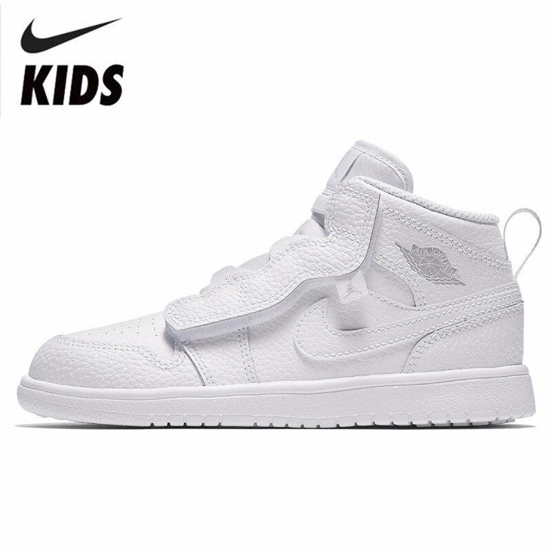 Nike JORDAN 1 MID ALT (PS) малыша движения детская обувь удобные кроссовки # AR6351 109