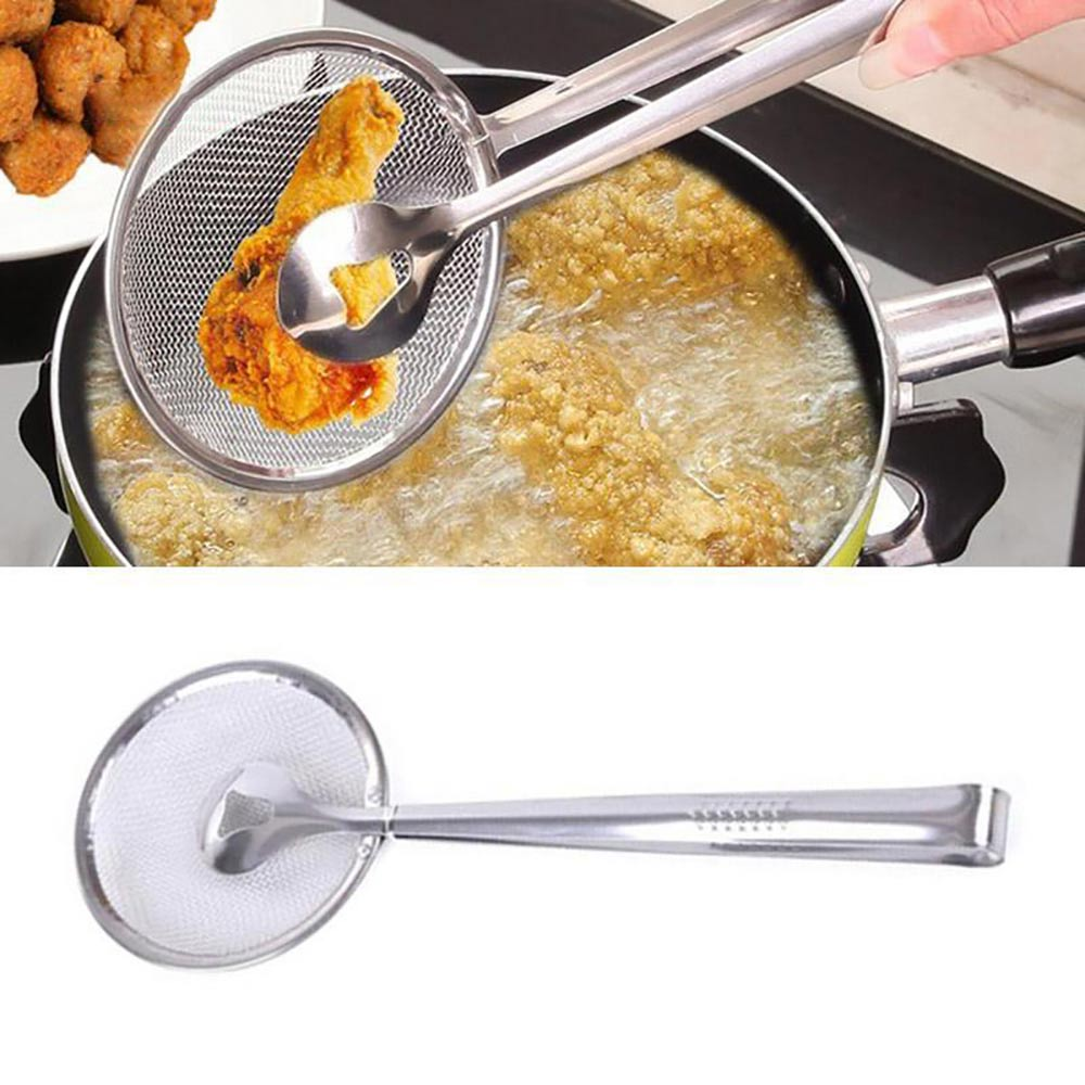 Helpful Cooking Frying Stainless Steel Strainer Fried Food Clip Oil Soup Filter