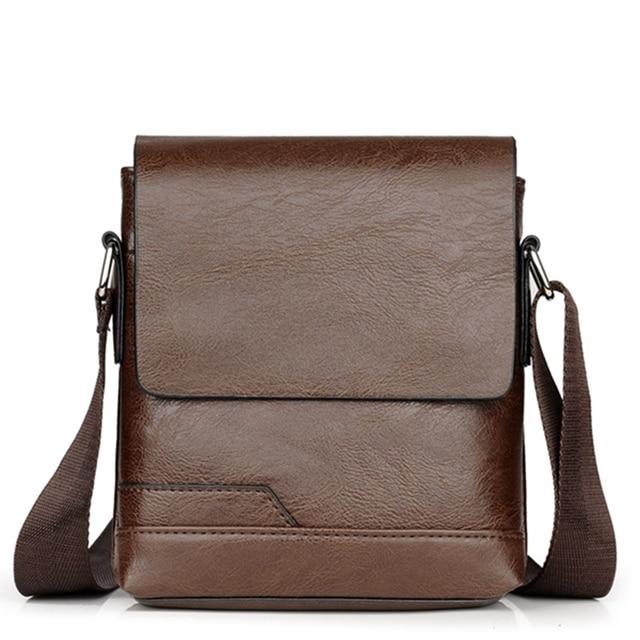 Small Crossbody Bag for Men Vintage Shoulder Bag Fashion Famous Brand Leather Messenger Bags High Quality Business Briefcase