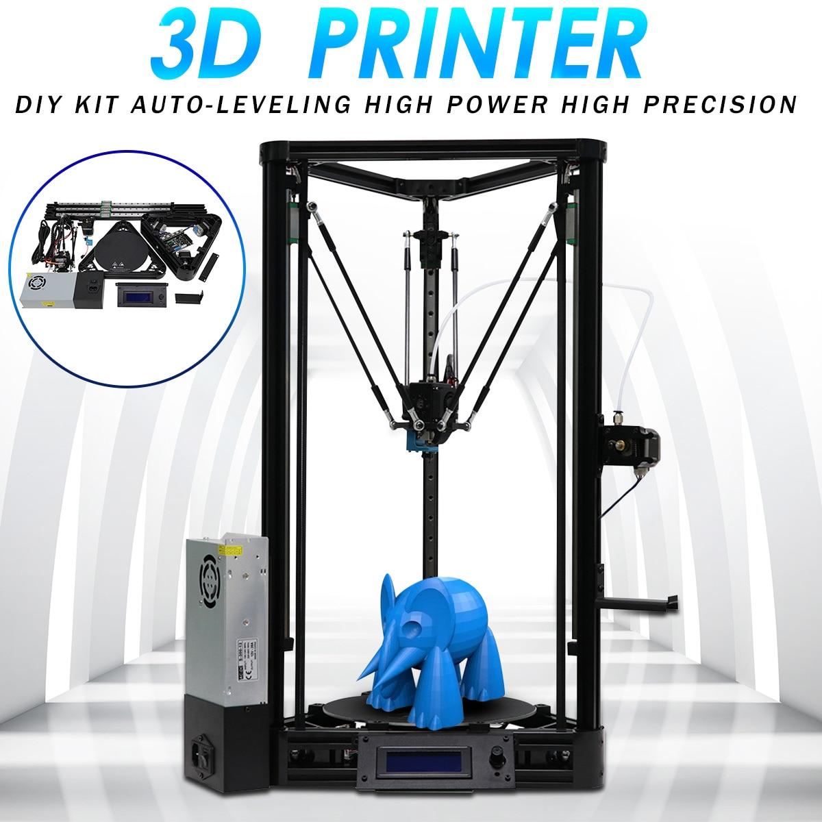 3D Imprimante Poulie ou Linéaire Plus La Moitié de Assemblé avec Auto Nivellement Grand 3D Impression Taille 230x300mm