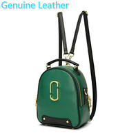 Woman Package New Pattern Fashion Soft Mini Genuine Leather Small Mini Backpack Bag