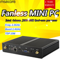 msecore Intel J1900 Mini PC NUC Windows 10 Desktop Computer Pocket PC Fanless pc barebone system linux HD Graphics 300M WiFi