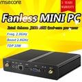 msecore Intel J1900 Mini PC NUC Windows 10 Desktop Computer Pocket PC Fanless pc barebone system linux HD Graphics 300M WiFi