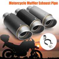 38 51mm Motorcycle Exhaust Pipe Muffler Stainless Steel SC GP Racing Project Exhaust Mufflers Carbon Style for Honda for Yamaha